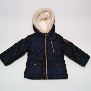 Girls Osh Kosh Puffer Jacket Full Zip With Hood 2T